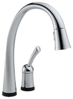 delta 980t dst pilar 1 handle kitchen faucet touch2o. Black Bedroom Furniture Sets. Home Design Ideas