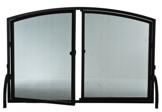 Tiffany arched w doors fireplace screen 50 w x 33 h contemporary fireplace screens by - Houzz fireplace screens ...