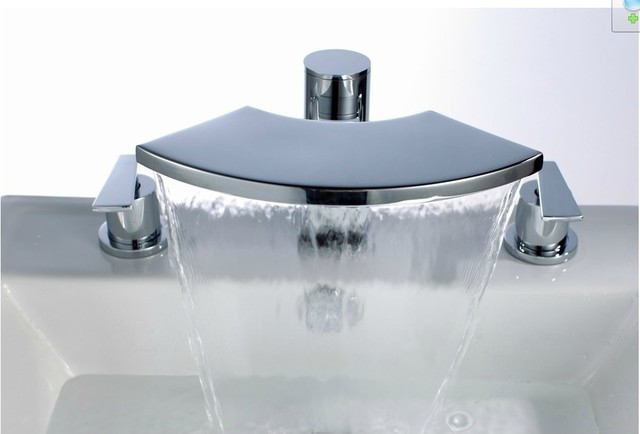 new deck mount waterfall tub faucet chrome finish 1066