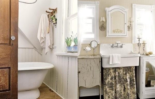 inspiration salle de bain romantique. Black Bedroom Furniture Sets. Home Design Ideas