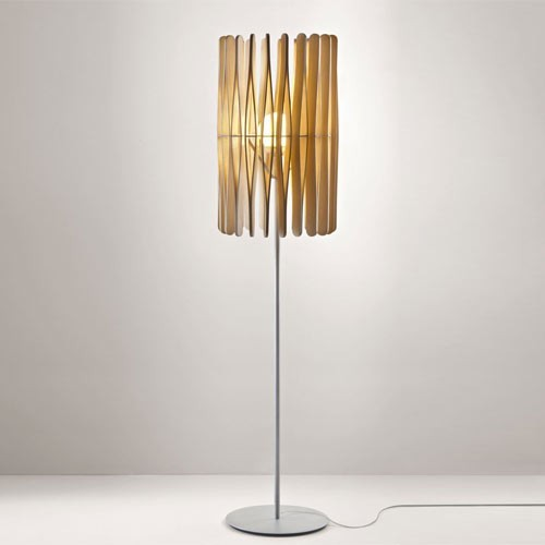 Stick floor lamp cylinder modern floor lamps by for Paper cylinder floor lamp