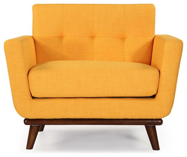 Kardiel Jackie Mid Century Modern Classic Chair Citrus