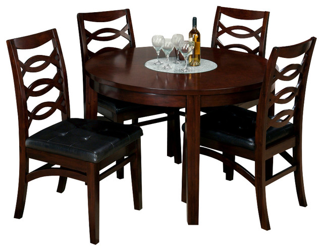 jofran 863 48 chadwick 6 piece round dining room set in