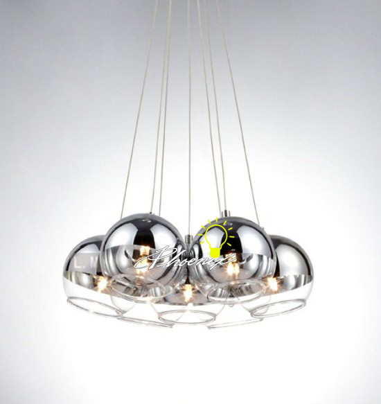 Glass Ball Pendant Lights Clear Or Opal Glass Braided Cord Fat