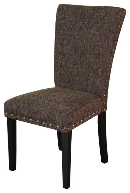 Adorno upholstered berry patch linen dining chairs set of for Upholstered linen dining chairs