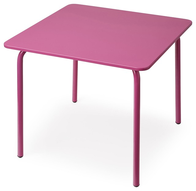 Cotia table de jardin pour enfant rose contemporain - Table jardin rose ...