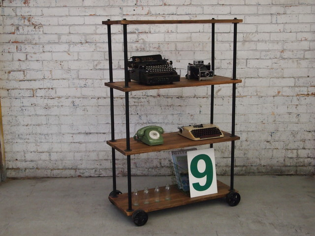 vintage industrial furniture storage and organisation