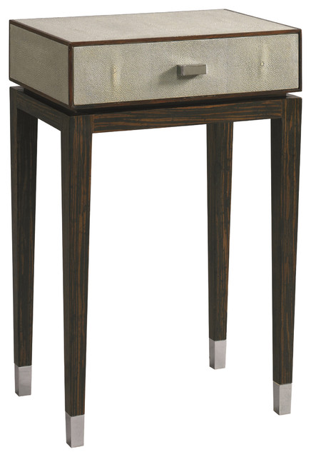 Lillian August Michael Shagreen Side Table La96324 01 Modern Side Tables End Tables By