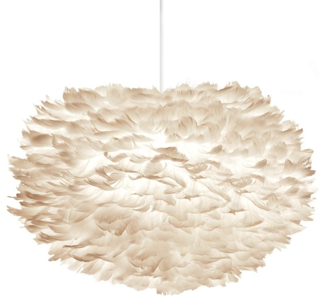 Suspension design en plumes eos dimensions large modern pendant lighting - Suspension plumes blanches ...