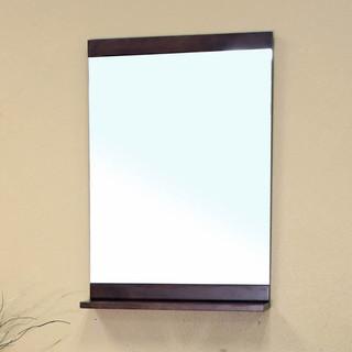 Vollie Medium Walnut Bathroom Vanity Mirror Contemporary