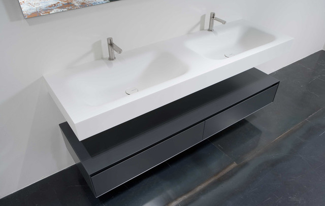 Integrated Bathroom Sink : SEGNO top with integrated sink - Modern - Bathroom Sinks - miami - by ...