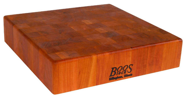 John Boos 3 Thick Square Cherry Chinese Chopping Block