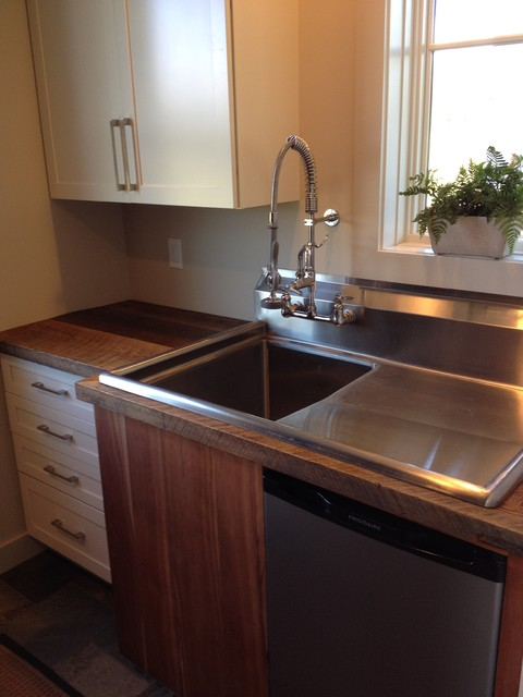 Mudroom commercial sink and storage rustic entry for Mudroom sink ideas
