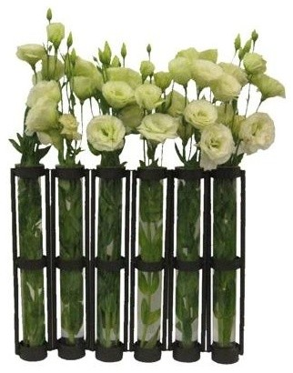 Tall Six Tube Hinged Vase Set Contemporary Vases By