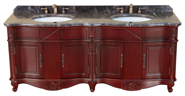 75 Bosconi T 3688 Double Vanity Traditional Bathroom Vanities And