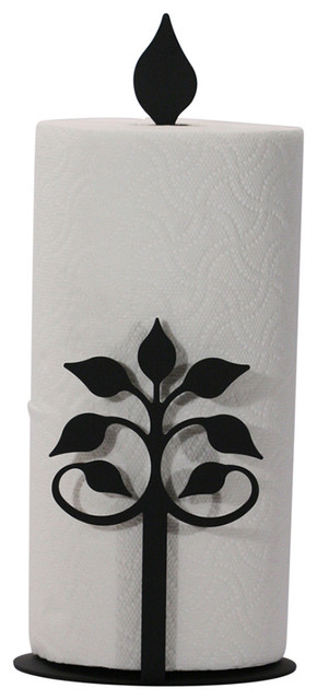 Wrought Iron Paper Towel Stand - Rustic - Paper Towel ...