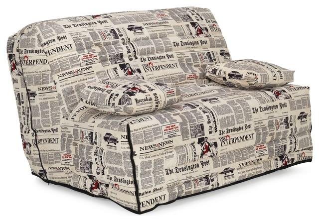Newspaper couette pour bz l140cm motifs newspaper r tro - Housse couette bz ...