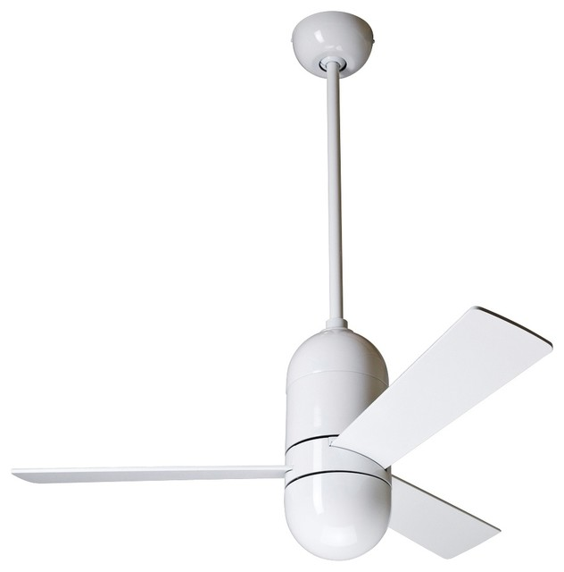 36 modern fan cirrus gloss white ceiling fan contemporary ceiling fans by euro style lighting - Modern white ceiling fan ...