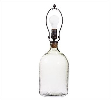 clift glass bottle table lamp base small clear. Black Bedroom Furniture Sets. Home Design Ideas