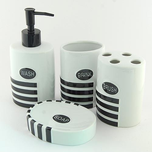 Cute ceramic bath accessory set contemporary by sinofaucet for Cute bath accessories
