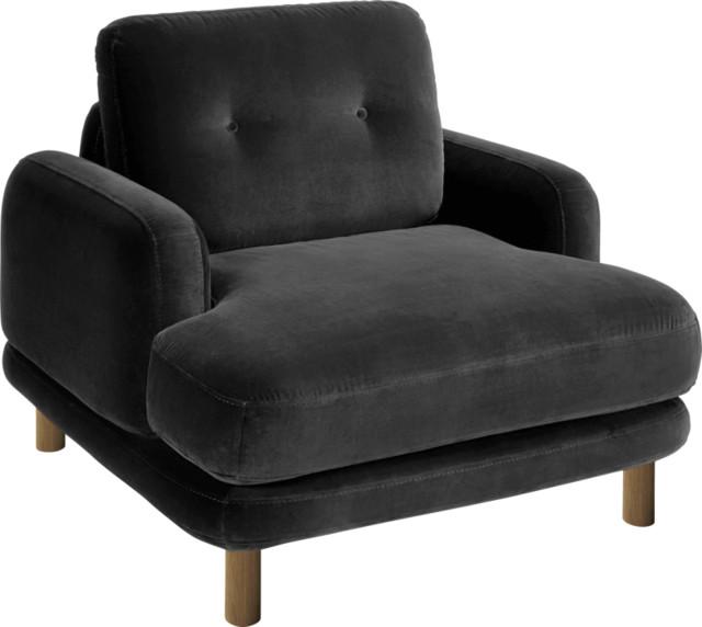 Land fauteuil en velours contempor neo sillones y - Sillones contemporaneos ...