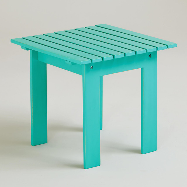 Blue Turquoise Classic Adirondack Side Table Traditional