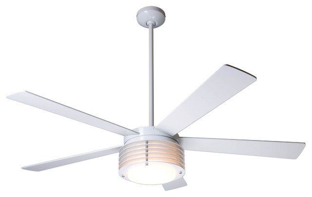 Modern fan company pharos gloss white 52 ceiling fan Modern white ceiling fan