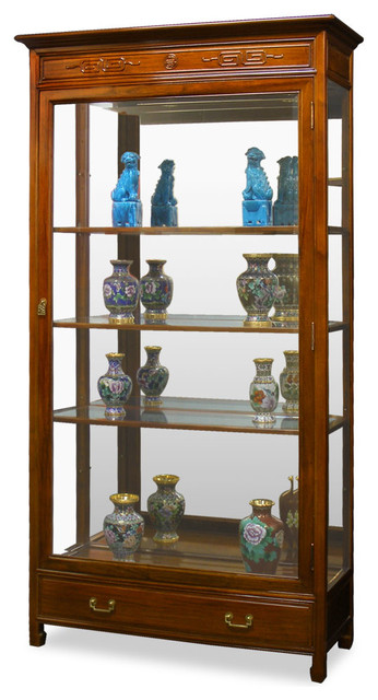 Rosewood Grand Curio Cabinet - Asian - China Cabinets And Hutches - by China Furniture and Arts