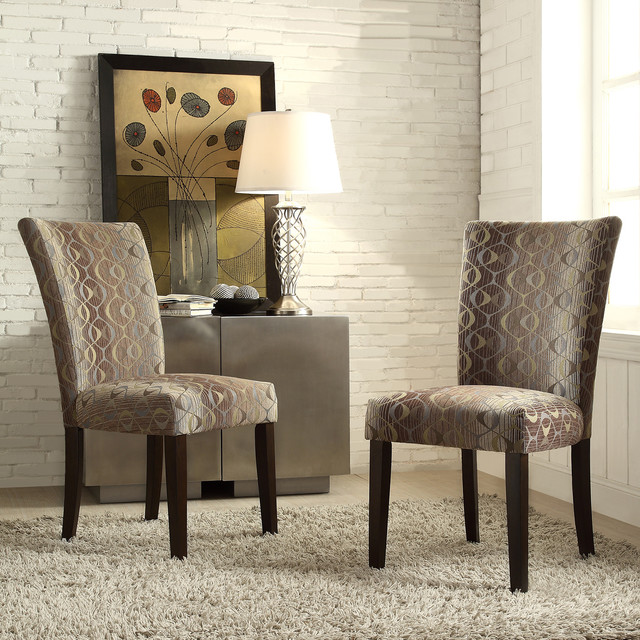 Inspire q catherine oval chain parsons dining chair set for Inspire q dining room chairs