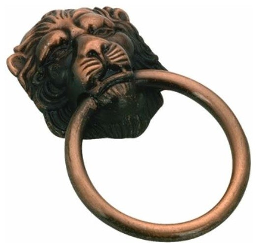 Richelieu Classic Lion Metal Ring Pull 38mm Antique Copper - Contemporary - Cabinet And Drawer ...