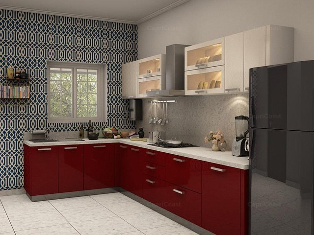 Verona L Shaped Modular Kitchen From Capricoast Modern Kitchen Other Metro By Capricoast