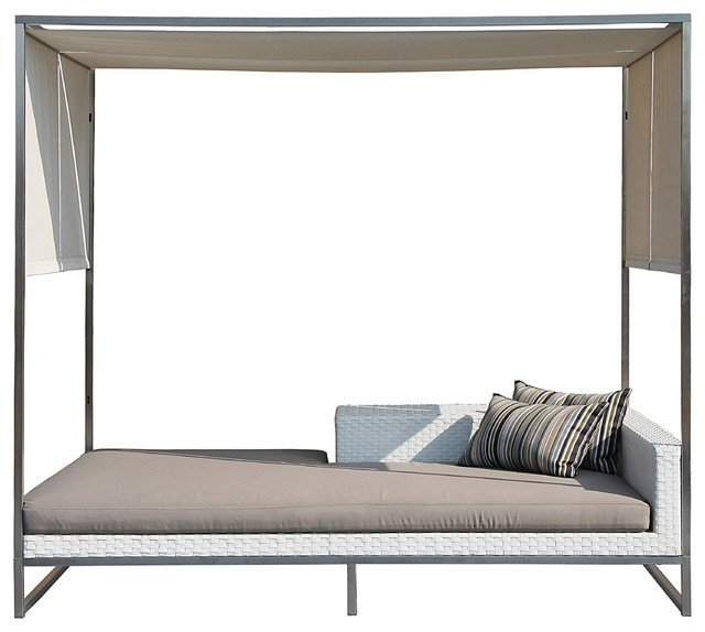 Jane daybed with canopy contemporary outdoor sofas Outdoor daybed with canopy