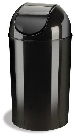 grand 10 gallon swing top waste can black by umbra contemporary trash cans by the. Black Bedroom Furniture Sets. Home Design Ideas