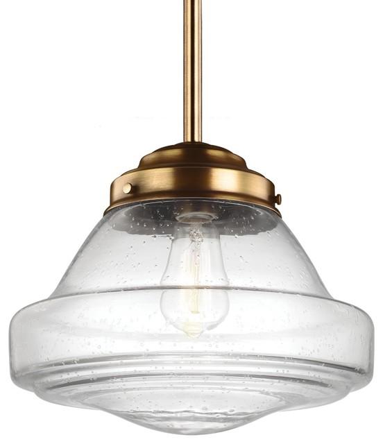Feiss P1380AGB LED Alcott Aged Brass Pendant