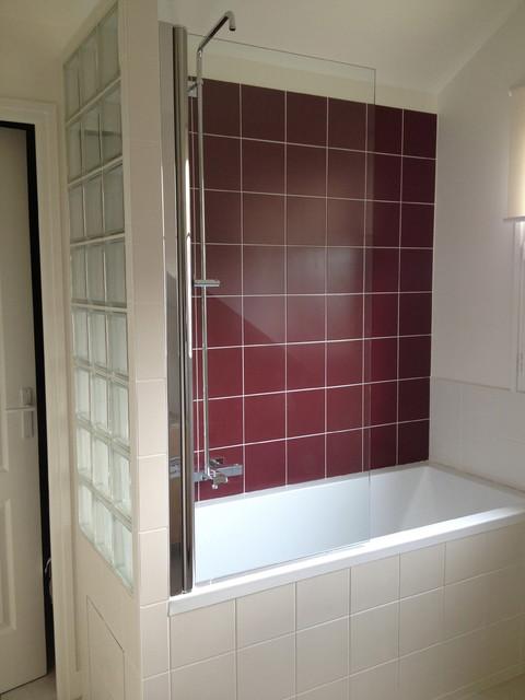 Salle de bain et cloison de pav s de verre rueil malmaison 92 classique c - Cloison verre salle de bain ...
