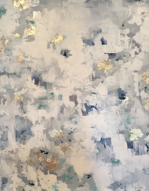 Quot worthy quot gold leaf abstract painting 8 quot x10