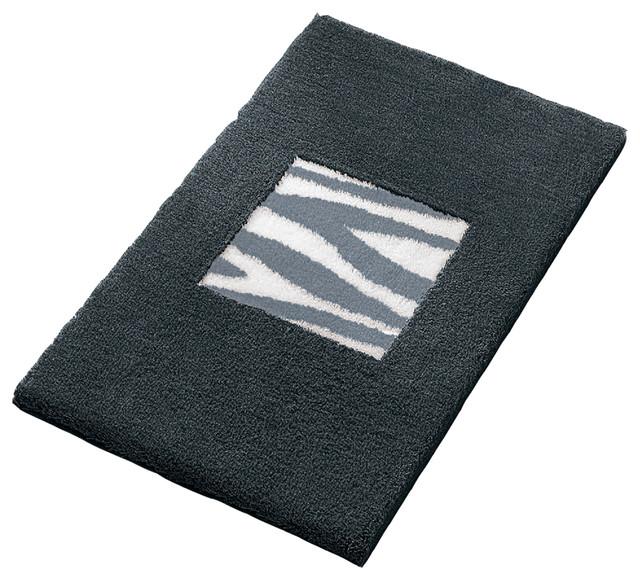 Black luxury non slip washable bathroom rug safari contemporary bath mats by vita futura - Designer bathroom rugs and mats ...