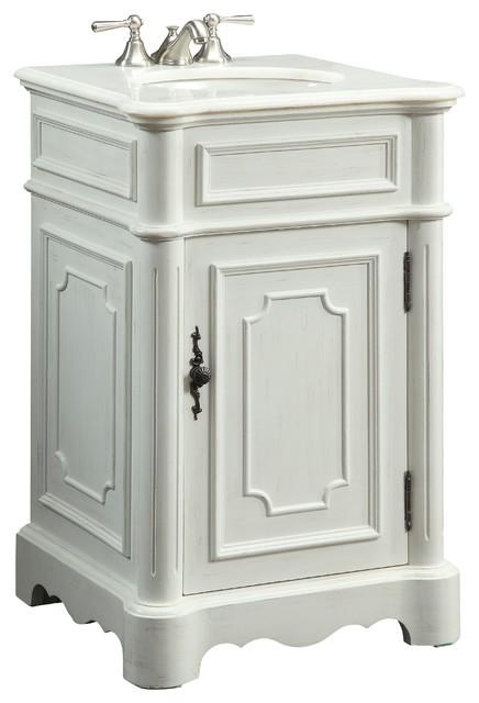 21 Powder Room Special Teega Bathroom Sink Vanity CF 3006W AW Tradit