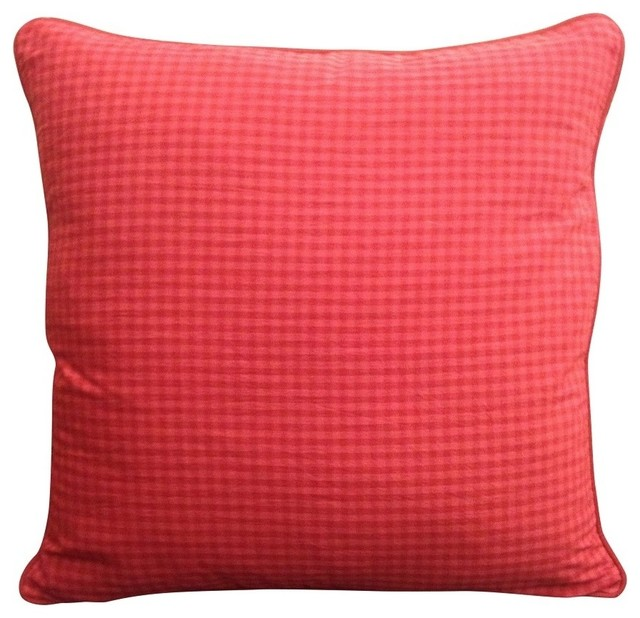 Red Square Pillow - Farmhouse - Decorative Pillows