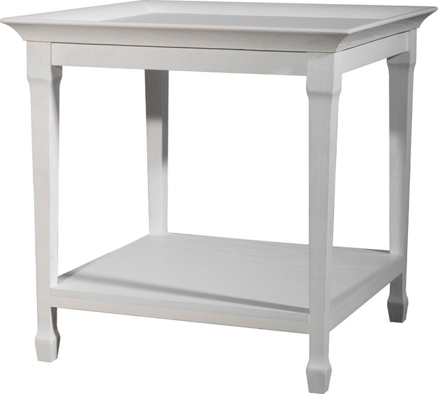 White Tray Side Table