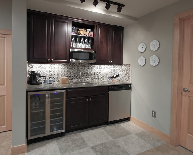 Platte park basement traditional denver by diane for Kitchenette designs photos