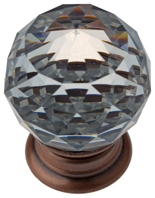 """Crystal Cabinet Knob, 1.5"""" traditional-cabinet-and-drawer-knobs"""