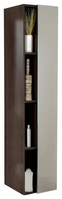 Fresca Bathroom Linen Cabinet w/Four Cubby Holes & Mirror - Modern - Bathroom Cabinets And ...