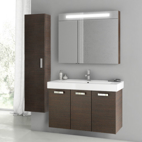 40 Inch Wenge Bathroom Vanity Set - Contemporary ...