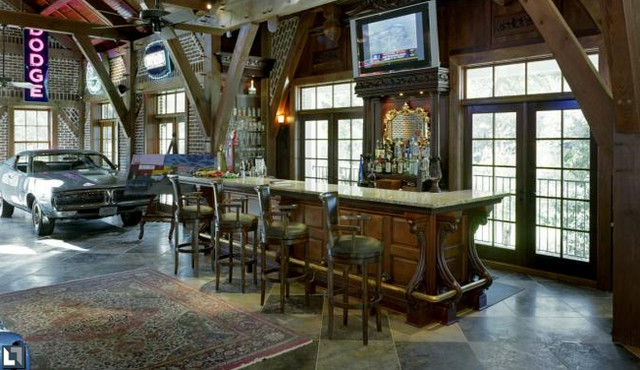 Rustic Garage Man Cave Ideas : Man space home bar eclectic basement by dreamgarage