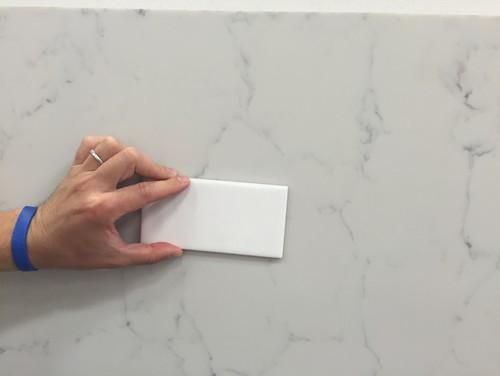 Anyone have pental quartz statuario or onixaa installed in a white kit