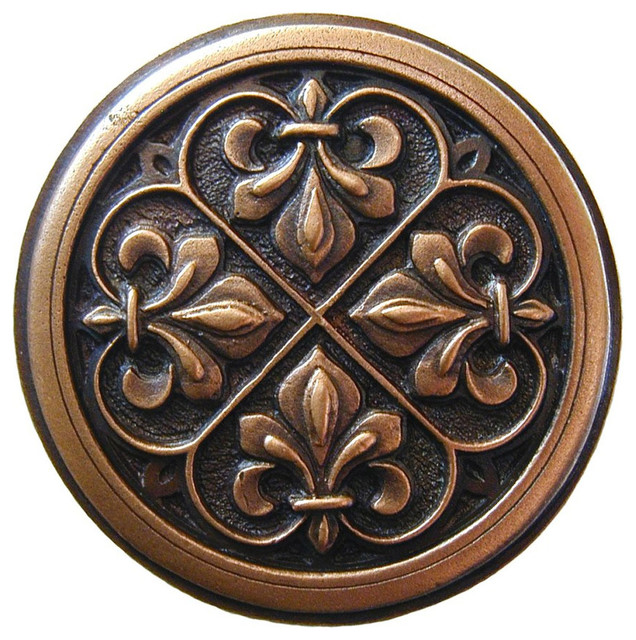 fleur de lis knob antique copper traditional cabinet and drawer knobs by inviting home inc