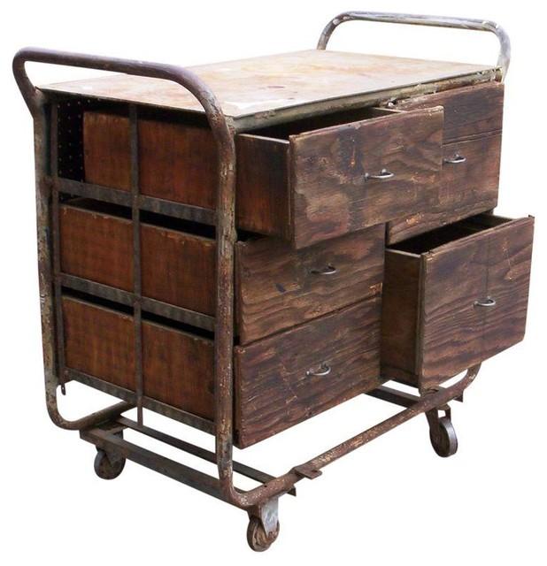 Urban Metal Kitchen Cart: Repurposed Urban Loft Ready Utility Cart TVStand