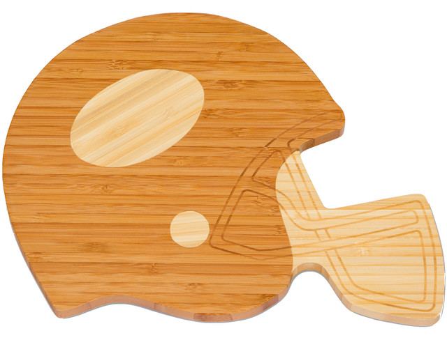 Football helmet cutting board bamboo eclettico for Case in stile cracker