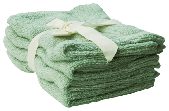 shoo foo bamboo bath mitts set of 4 sage green rustic bath towels by shoo foo eco linens. Black Bedroom Furniture Sets. Home Design Ideas